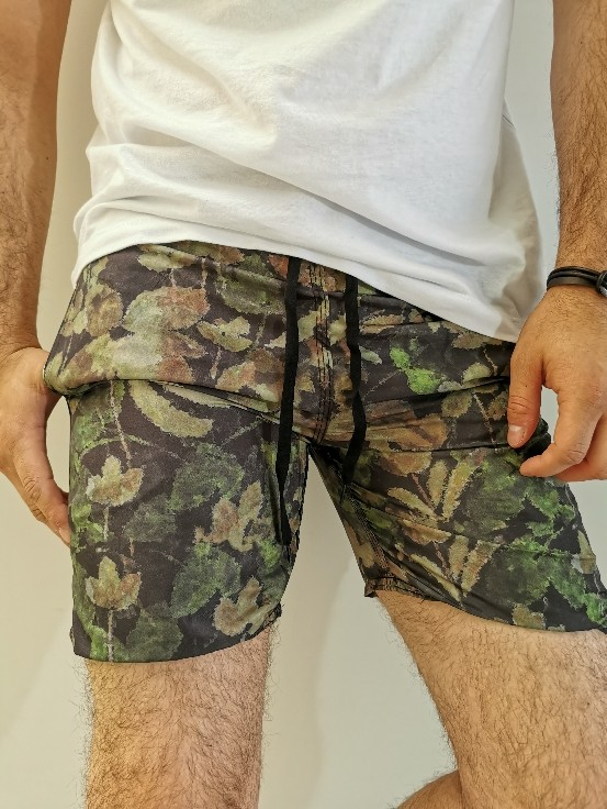 Shorts Pitt Preto Estampado
