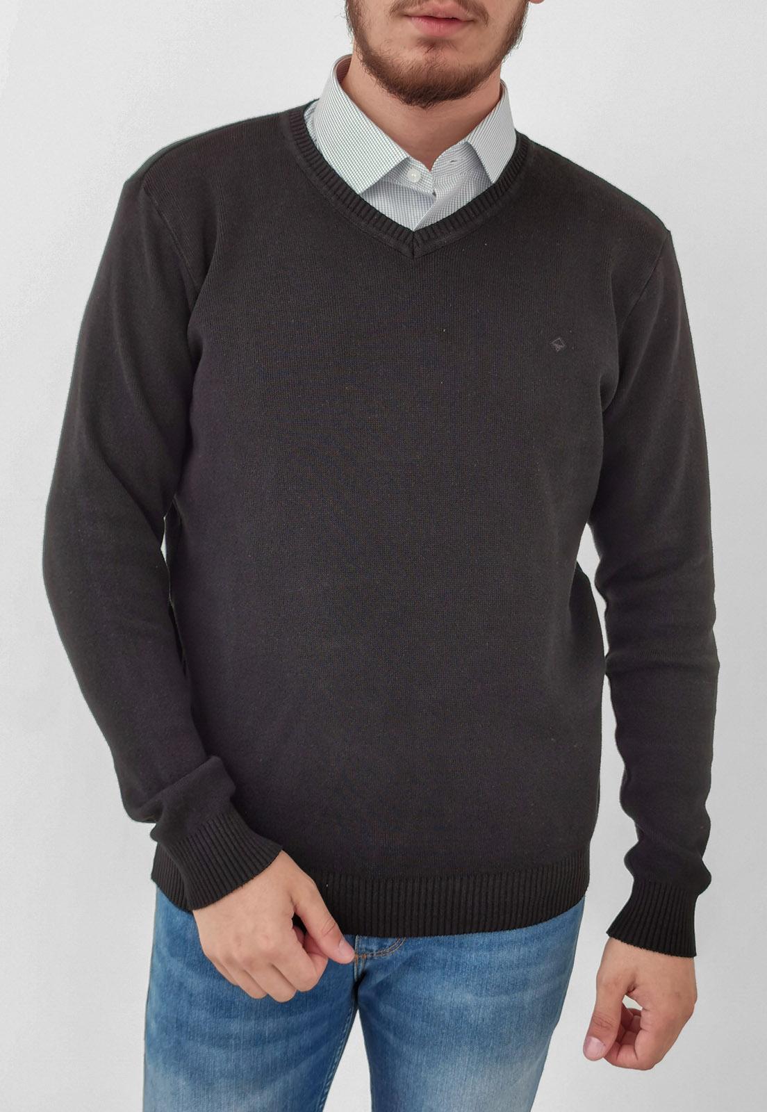 Suéter Vibrus Preto Básico