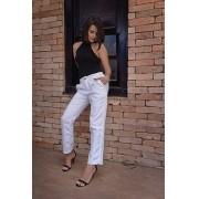 Calça Modeladora Social Sarja Branca