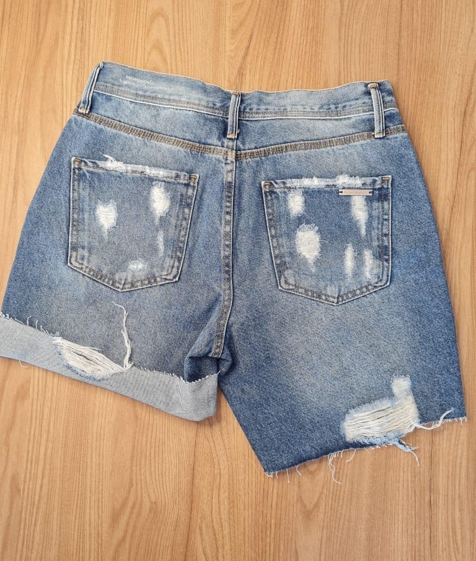 Short Feminino Jeans Denim Granada