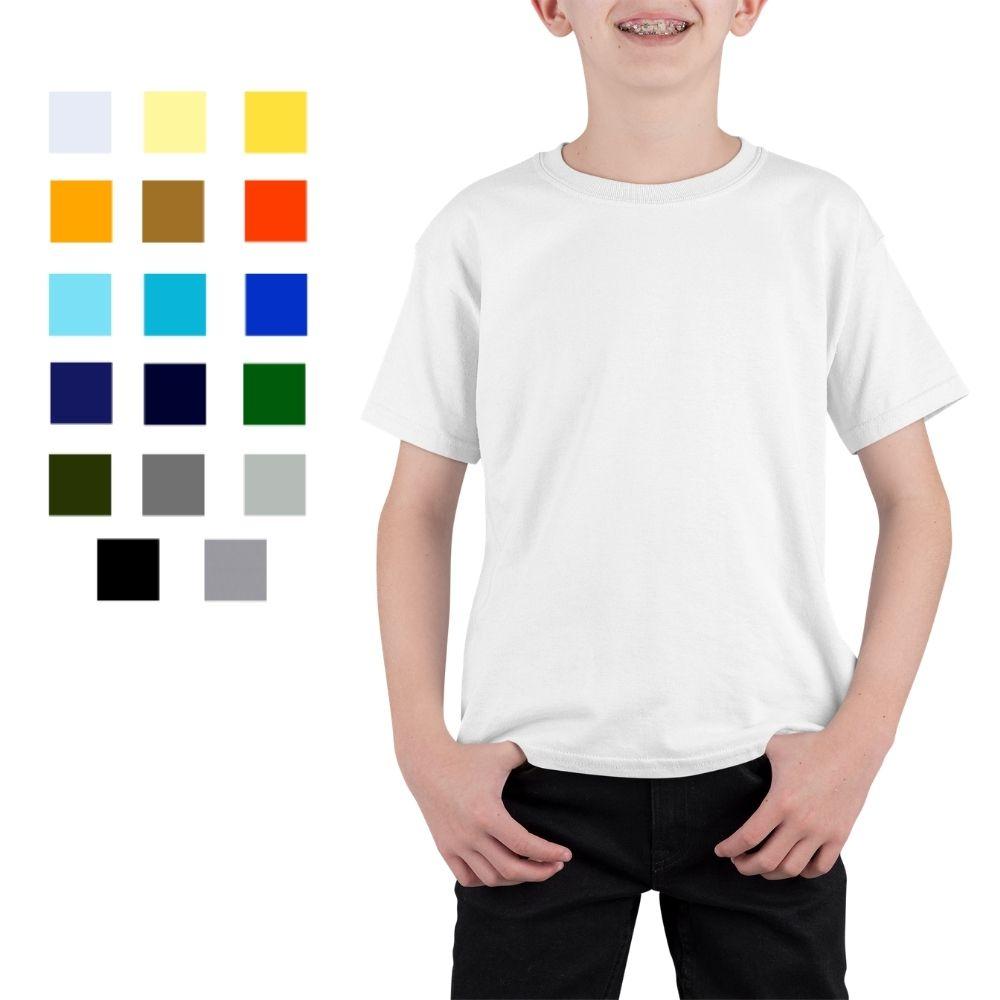 Camiseta Básica Infantil 100% Algodão Penteado