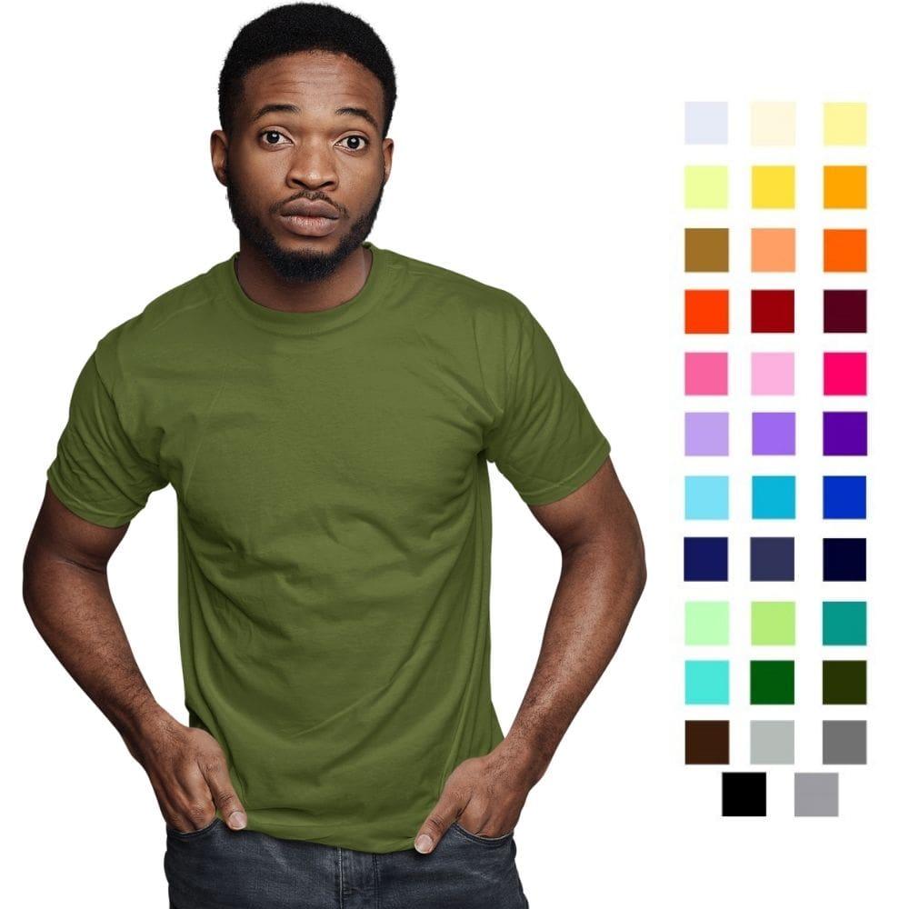 Camiseta Masculina Básica Gola Redonda 100% Algodão 30.1 Penteado Premium (Ref. 1121)