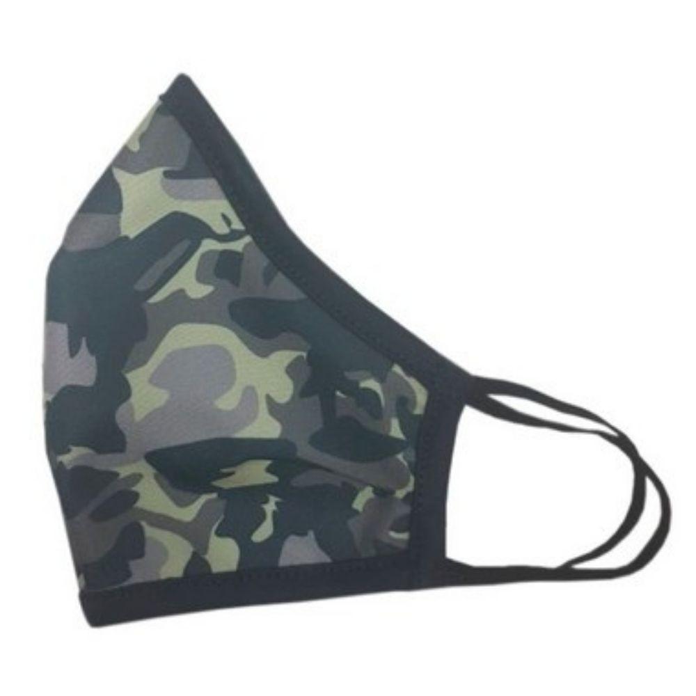 Máscara de Tecido Camuflada - Dupla Camada com Elástico