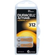 Pilha auditiva Duracell Activair 312/PR41