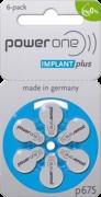 Pilha Power One 675 Implant Plus