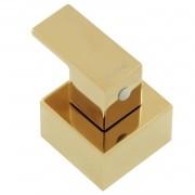 Acabamento Registro Quadrado Rose Gold Cubo Base Deca