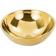 Cuba de Apoio Redonda Gold Dourado 40x40cm CUBA03