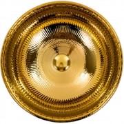Cuba de Apoio Redonda Gold Dourado 40x40cm CUBA38