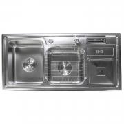 Cuba de Cozinha Inox Aço Escovado Noronha 60x40cm