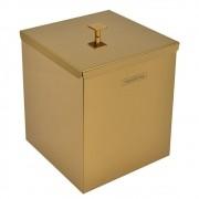 Lixeira Tramontina Luz Scotch Brite Dourado Gold 4,5 L