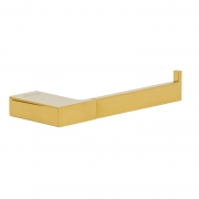Papeleira Porta Papel Higiênico de Parede Dourado Gold Lux