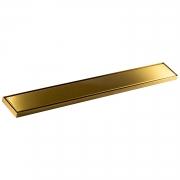 Ralo Linear Fechamento Automático Dourado Gold 80x10cm