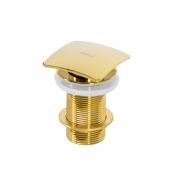 Válvula Click Quadrada Lux Gold