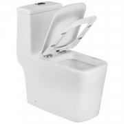 Vaso Sanitário Caixa Acoplada Quadrado Branco Lux