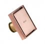 Ralo Quadrado Fechamento Automático Rose Gold 10x10cm