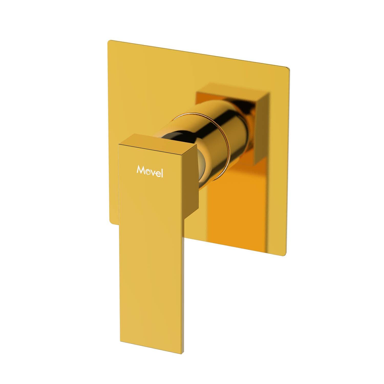 Acabamento Monoc Chuveiro Quadrado Gold Dourado Cubo B Deca