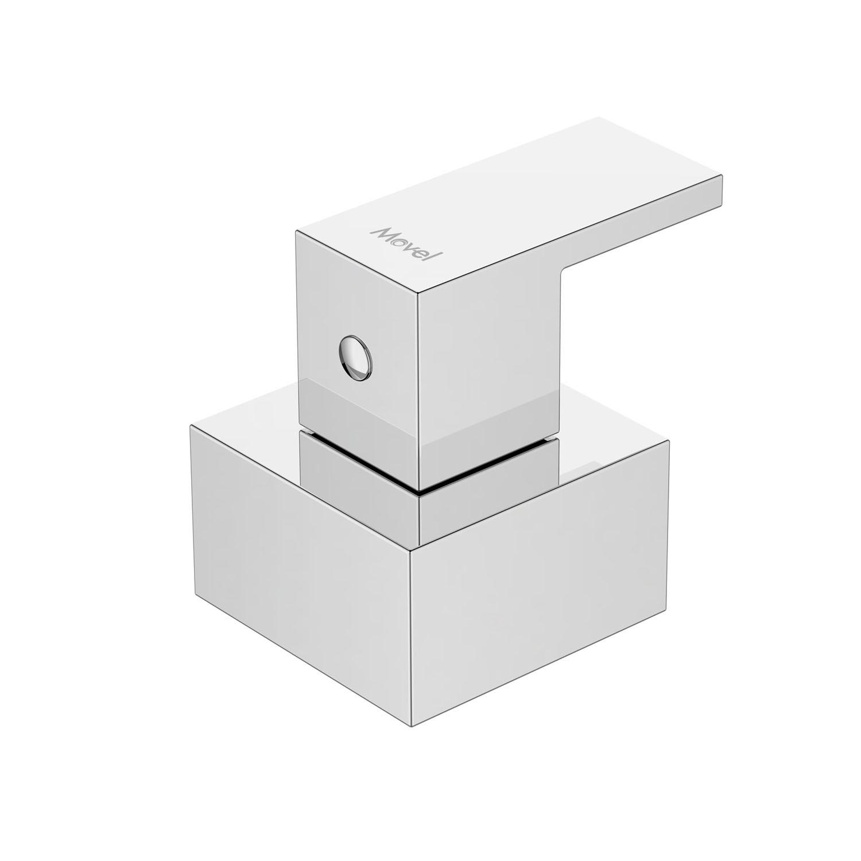 Acabamento Registro Quadrado Cromado Cubo Base Deca