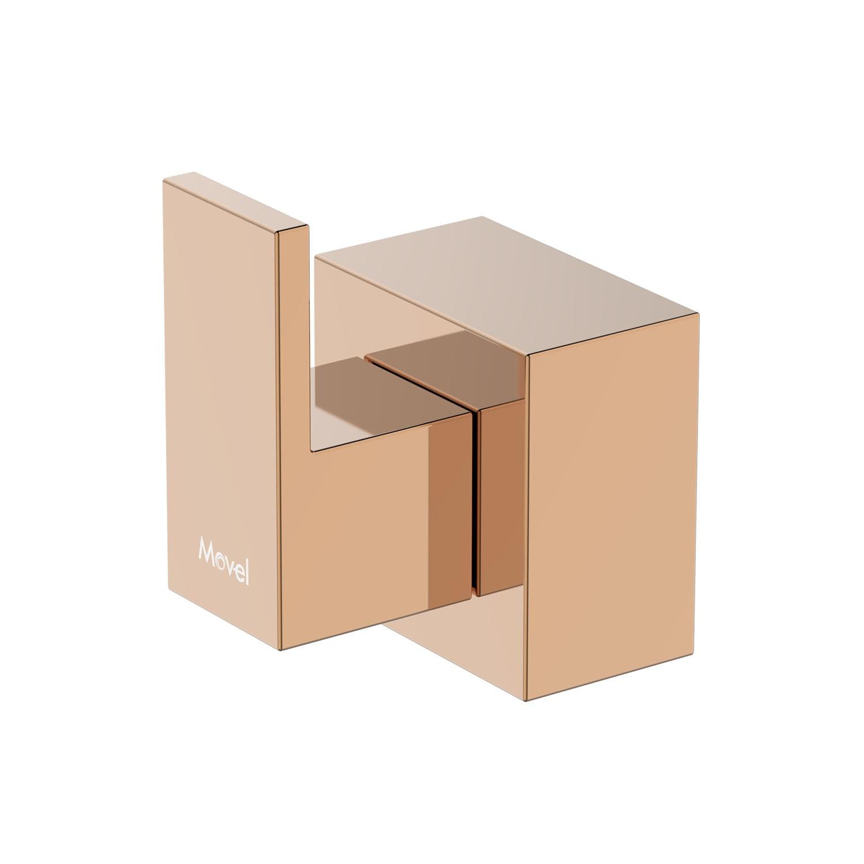 Acabamento Registro Quadrado Cubo Base Docol Rose Gold