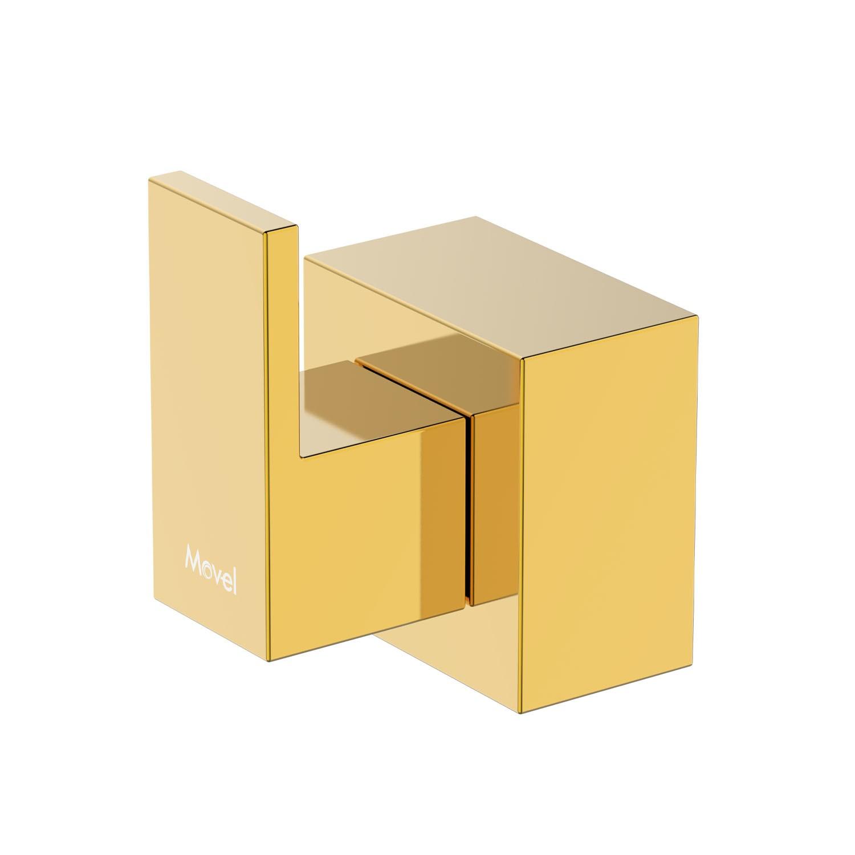 Acabamento Registro Quadrado Cubo Base Fabrimar Dourado
