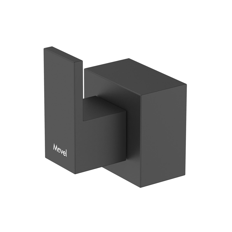 Acabamento Registro Quadrado Cubo Base Fabrimar Preto Fosco