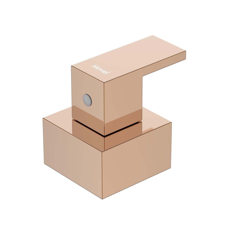 Acabamento Registro Quadrado Cubo Base Fabrimar Rose Gold