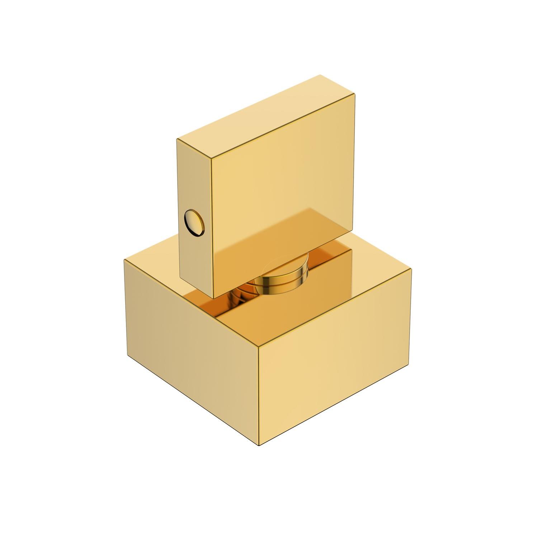 Acabamento Registro Quadrado Lux Base Deca Dourado Gold