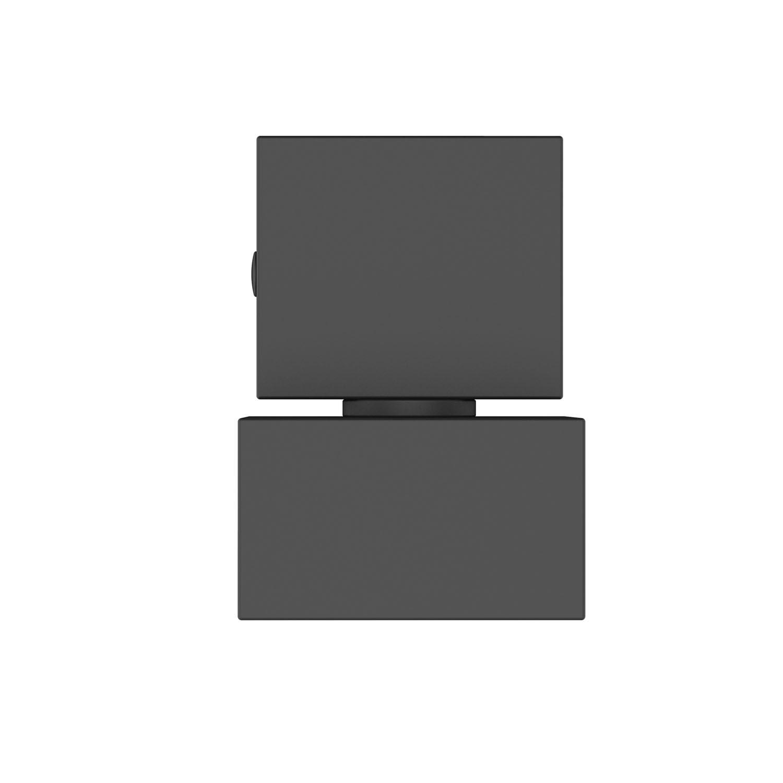 Acabamento Registro Quadrado Lux Base Deca Preto Fosco