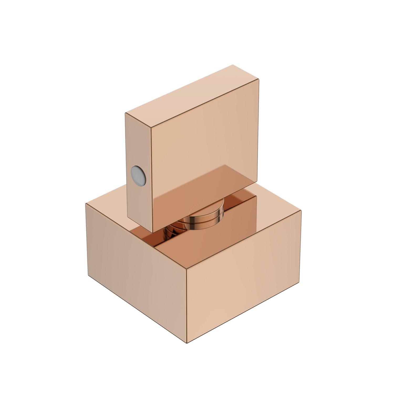 Acabamento Registro Quadrado Lux Base Deca Rose Gold