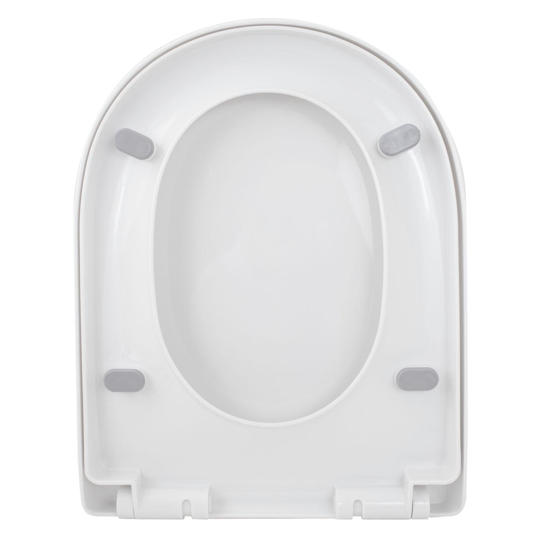 Assento Sanitário Soft Close Plástico Branco Doha