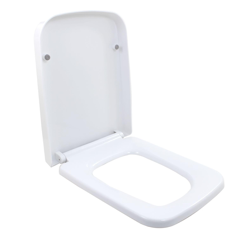 Assento Sanitário Soft Close Plástico Branco Lux Caixa Acoplada