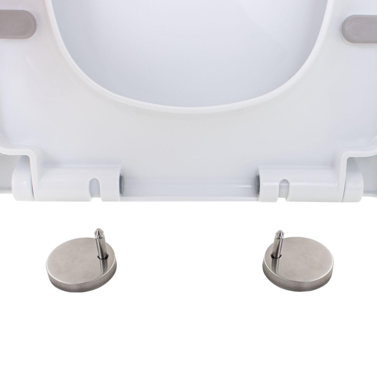 Assento Sanitário Soft Close Plástico Branco Nias Caixa Acoplada
