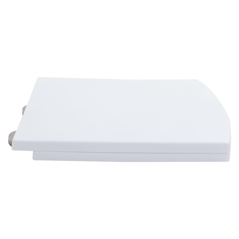 Assento Sanitário Soft Close Plástico Branco Prisma