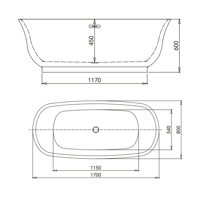 Banheira Freestanding de Imersão Ypuã 1700 Branco