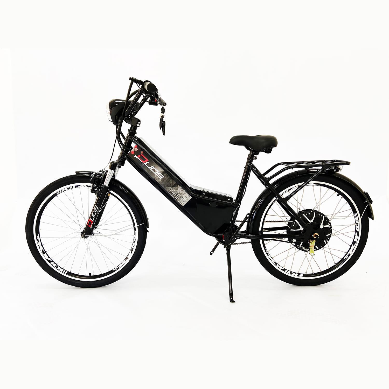 Bicicleta Elétrica Aro 26 Duos Confort 800W 48V 15Ah Preta