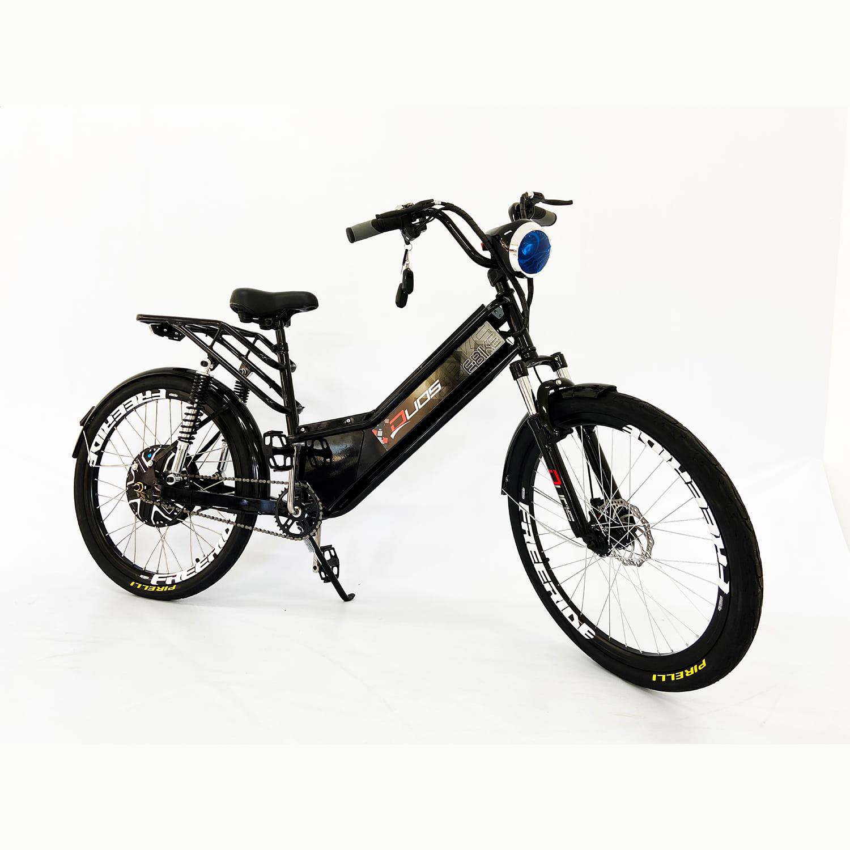 Bicicleta Elétrica Aro 26 Duos Confort Full 800w48v15ah Preta