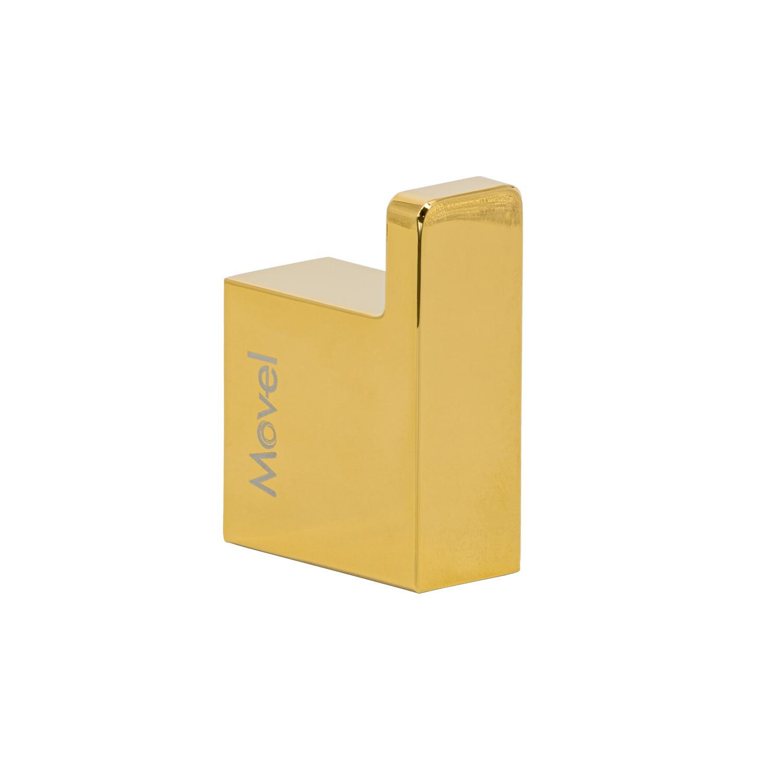 Cabide Gancho Porta Toalhas de Parede Dourado Gold Lux