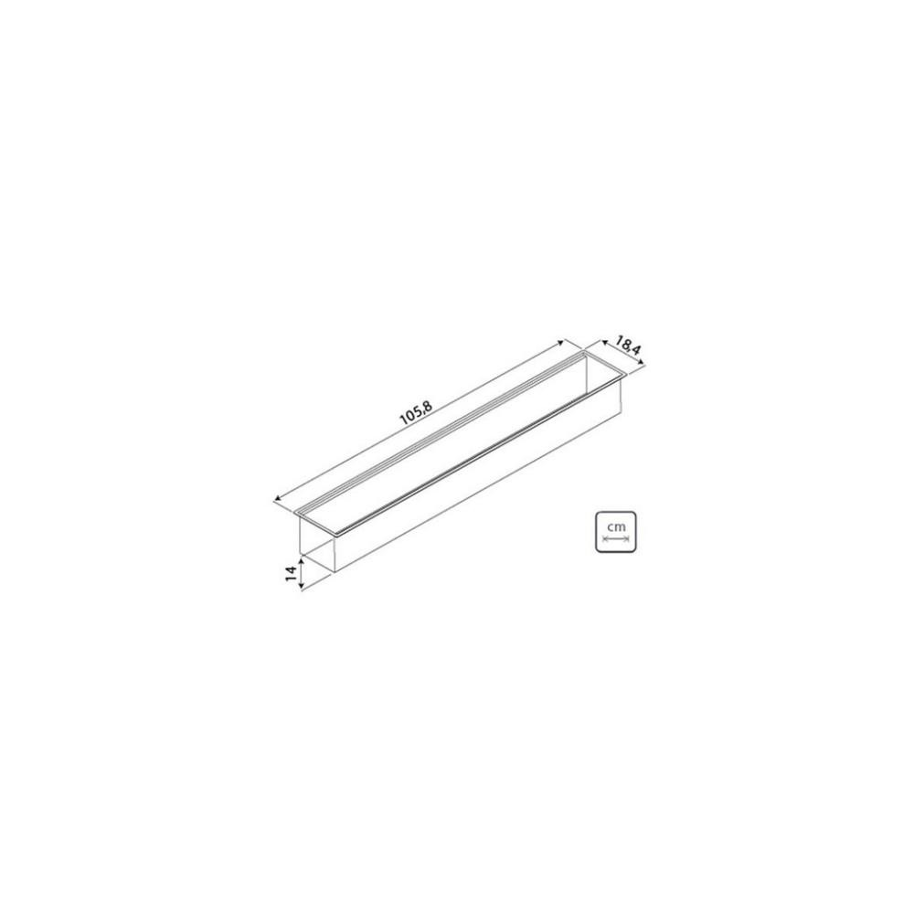 Calha Úmida Sobrepor Tramontina Inox 105x18cm c/ Acessórios