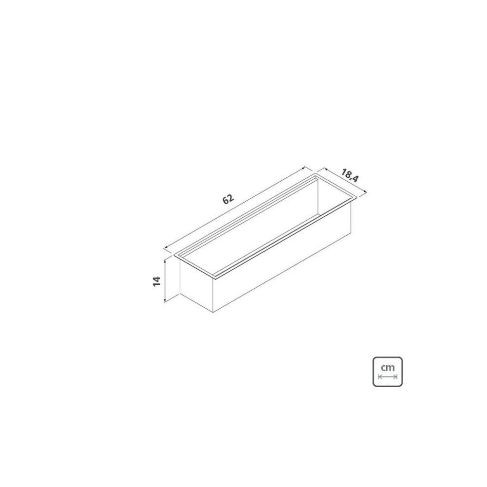 Calha Úmida Sobrepor Tramontina Inox 60x18cm c/ Acessórios
