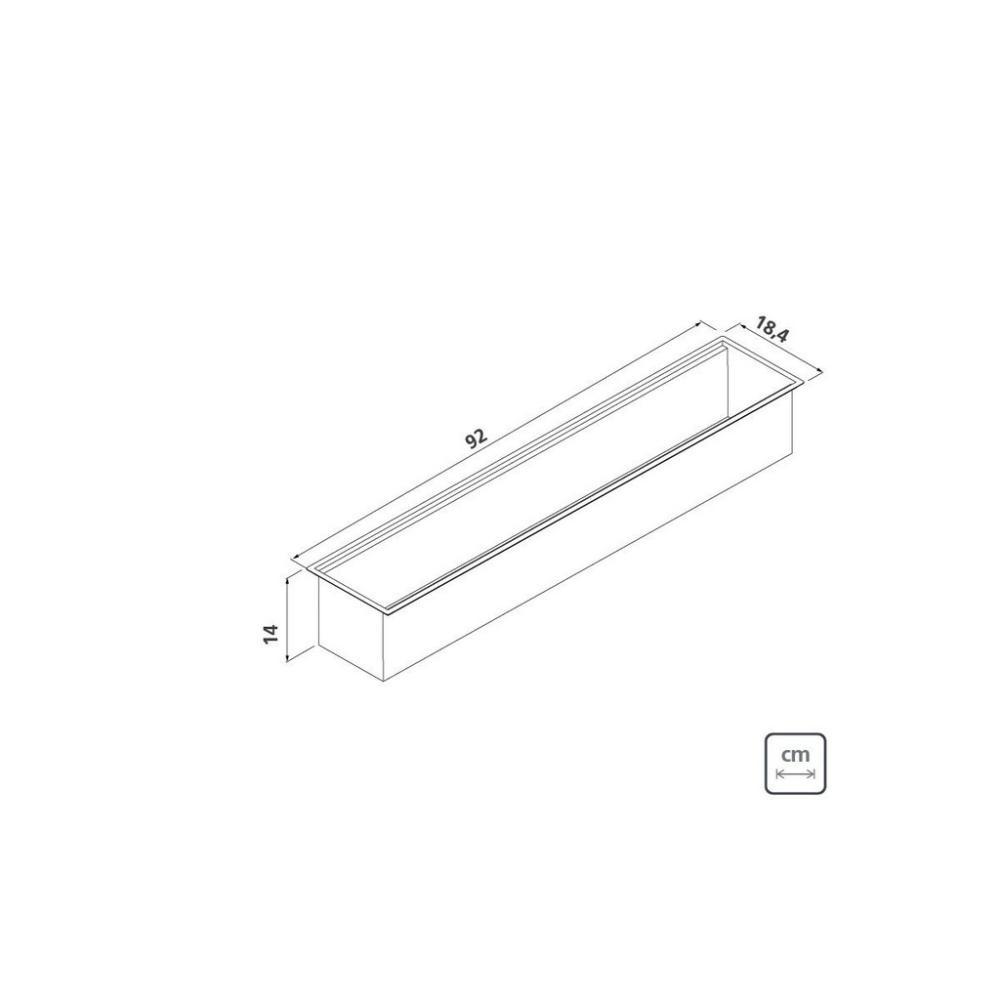 Calha Úmida Sobrepor Tramontina Inox 90x18cm c/ Acessórios