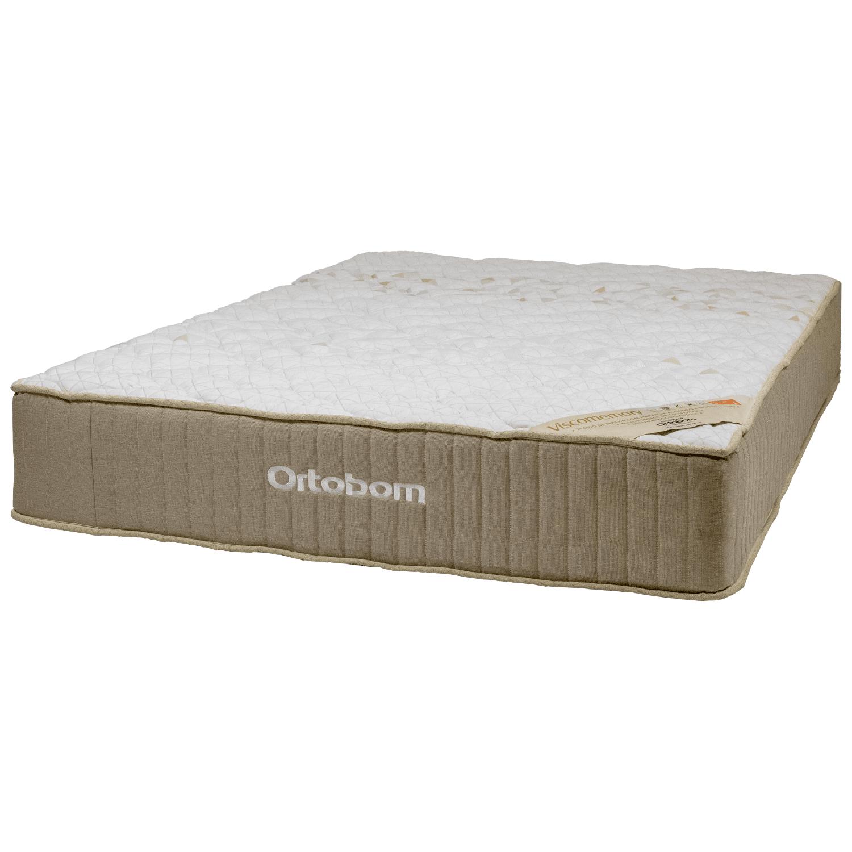 Cama Box Casal Ortobom com Base Camurça Bege 188x138x75cm
