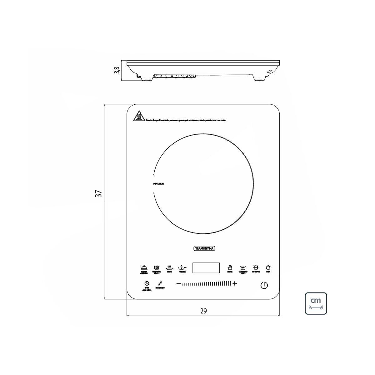 Cooktop Portátil Indução Tramontina Slim Touch EI 30 220V