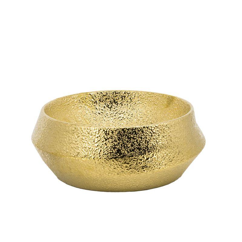 Cuba de Apoio Redonda Dourado Gold 39x39cm CUBA46