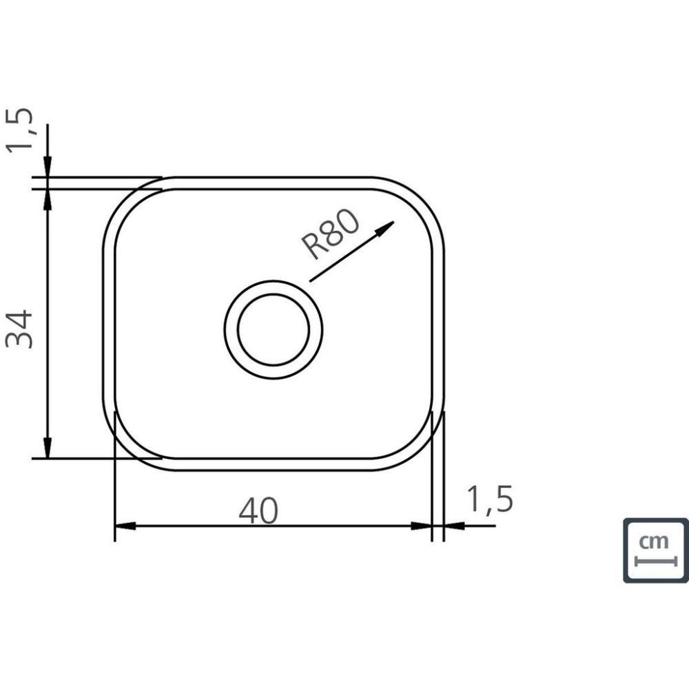 Cuba de Embutir Tramontina Lavínia 40BL Aço Inox 40x34cm