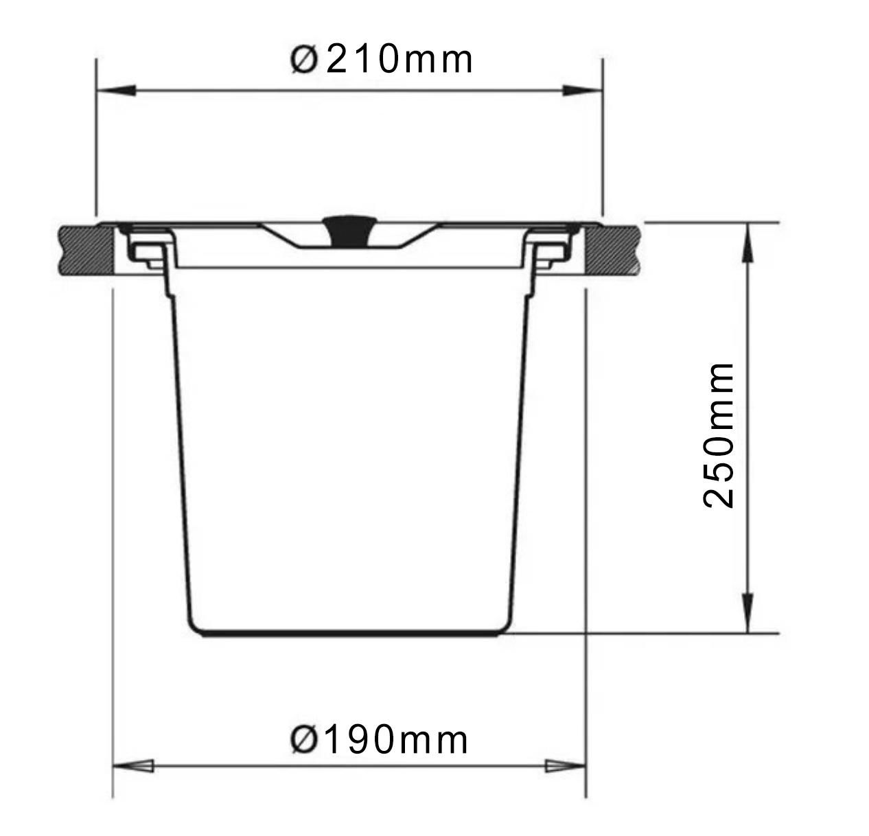 Lixeira de Embutir Redonda Aço Escovado Nias 5L