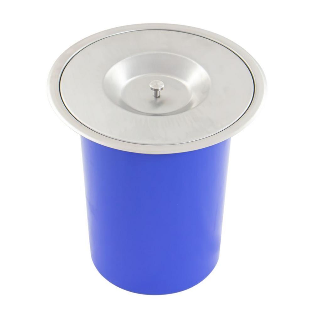 Lixeira Embutida Plástico Aço Brush  Inox  de Embutir 8L