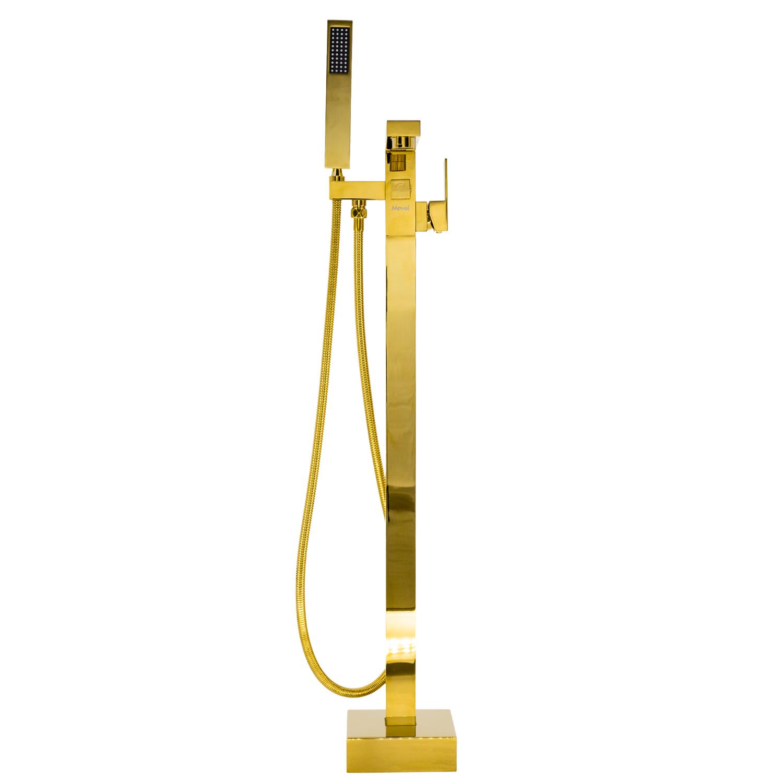 Misturador Monocomando Banheira de Piso Lux Dourado Gold