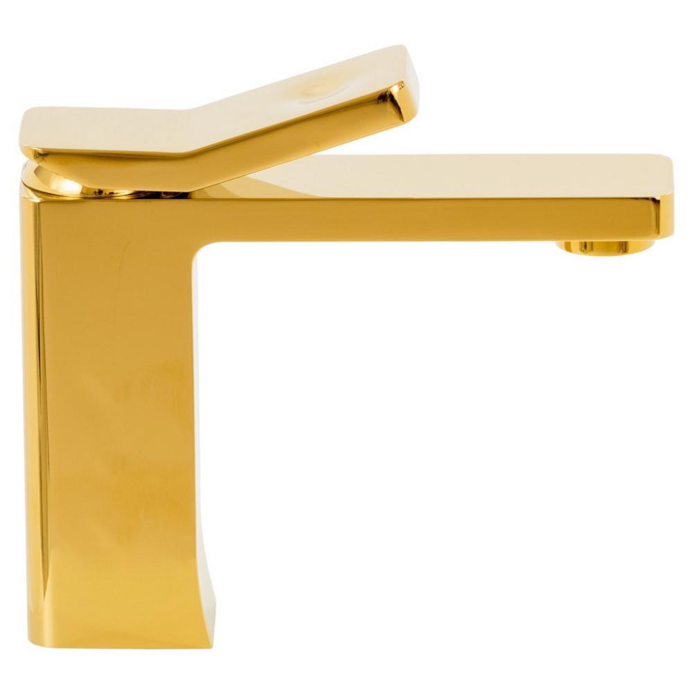 Misturador Monocomando Bica Baixa Gold Dourado MISTLUX
