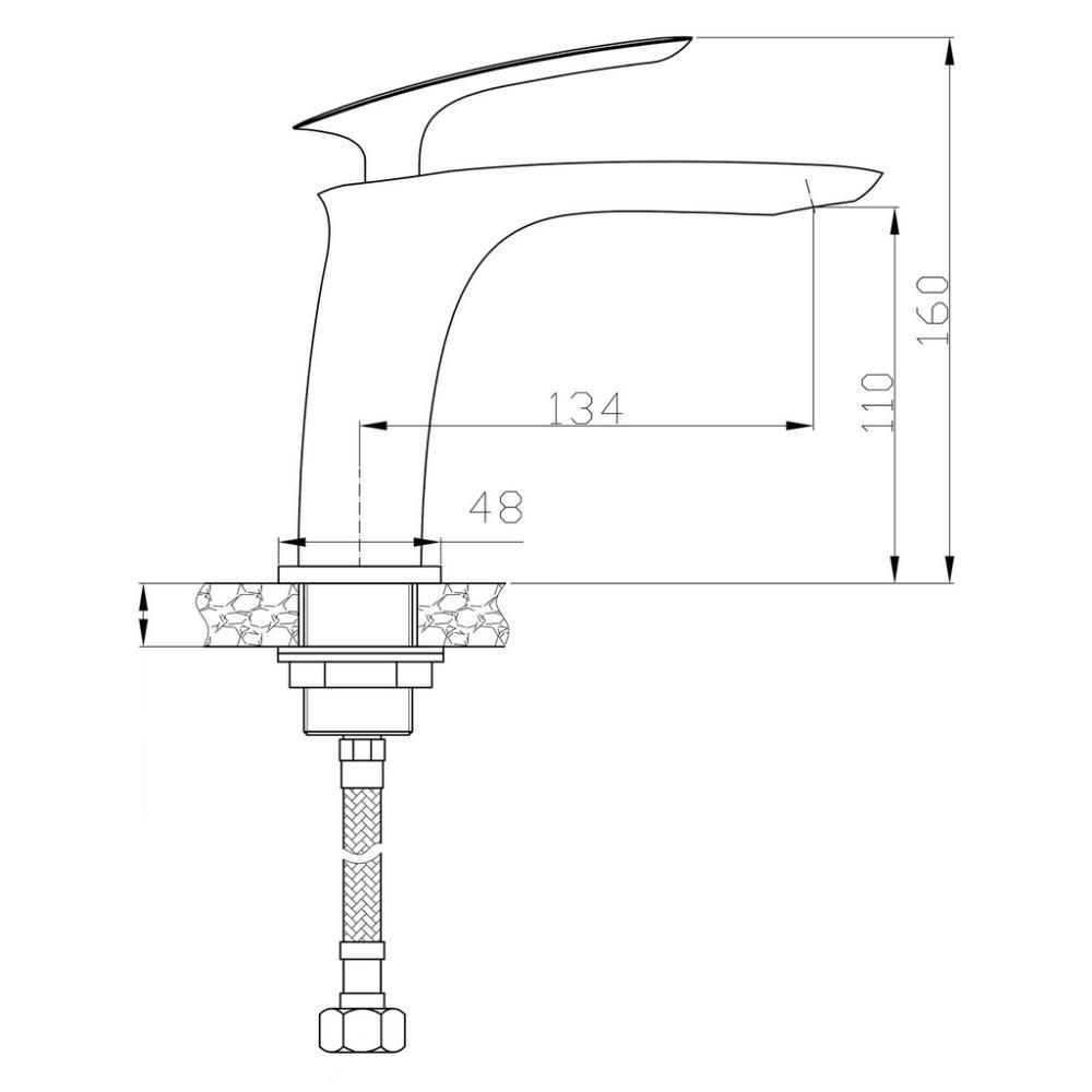 Misturador Monocomando Bica Baixa Preto Fosco MIST17