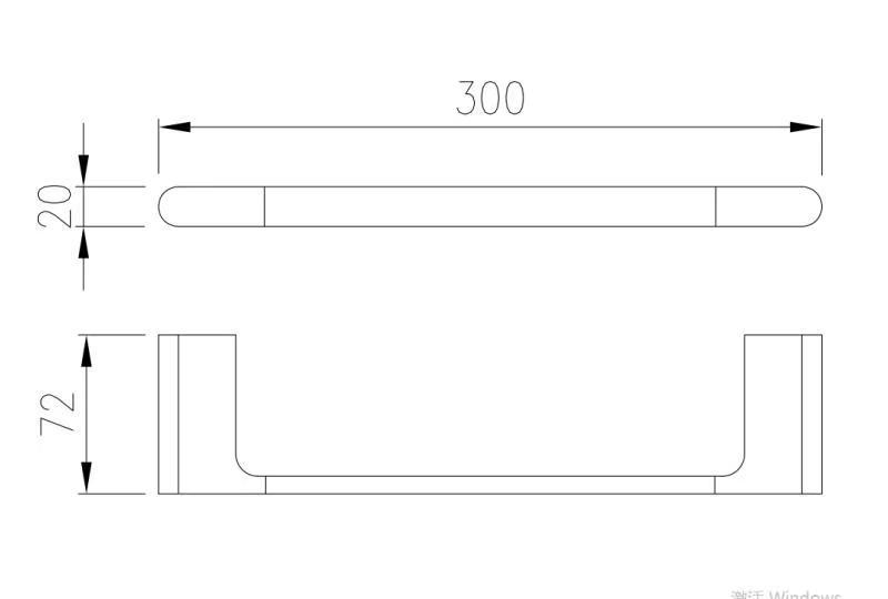 Toalheiro Porta Toalha de Rosto de Parede Preto Fosco Lux 30cm
