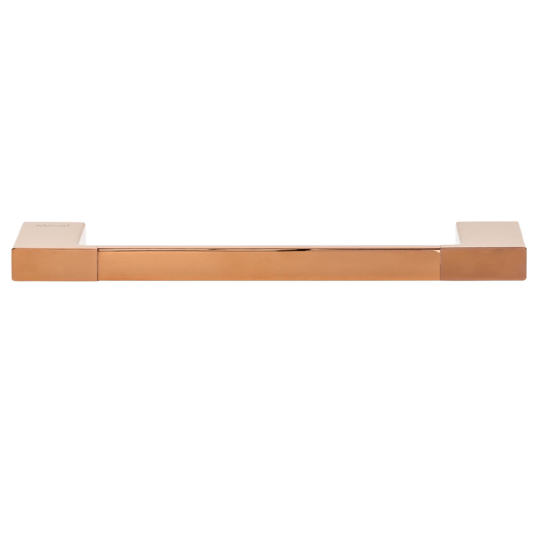 Toalheiro Porta Toalha de Rosto de Parede Rose Gold Lux 30cm